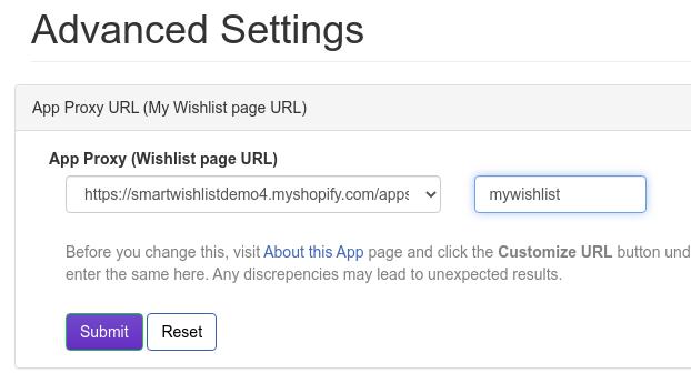Wishlist Page URL Change