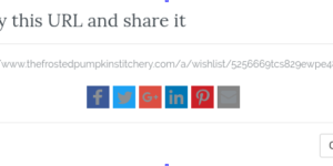 Icons of Share Wishlist Popup have turned grey